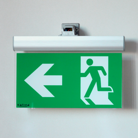 Double Face LED Emergency Exit and Directional Armature