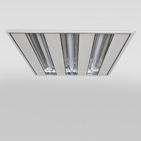60x60cm Recessed 3x Reflective T5 LED Light Fixture