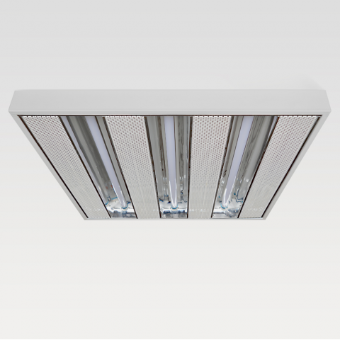 60x60cm Surface Mounted 3X Reflective T5 LED Fixture